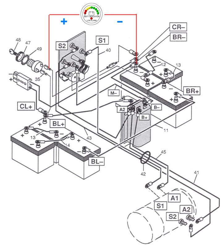 hyundai g1 gas golf cart wiring diagram  hyundai  auto