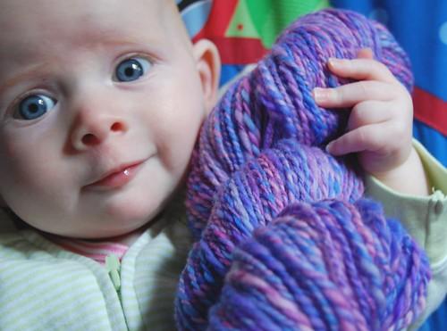 My winsome yarn model