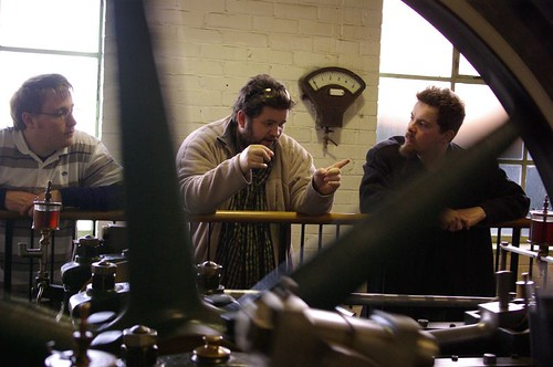 Jeremy, Aaron and Daniel at Dunedin Gasworks museum