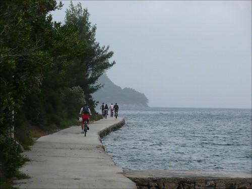 Passeio de bicicleta na ilha de Šipan