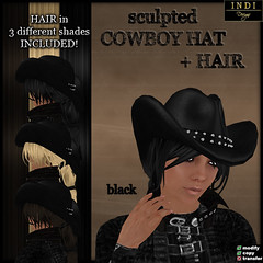 cowboy hat black (women)