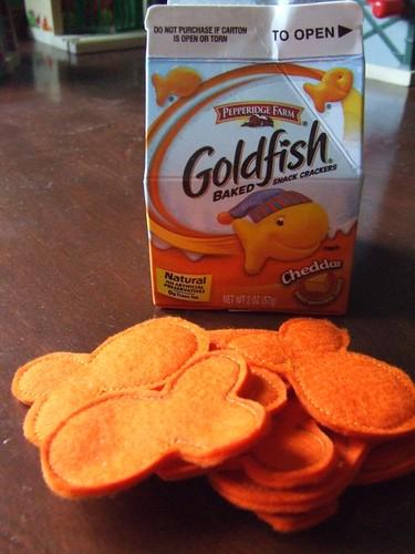felt goldfish