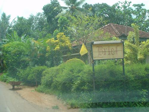 Sign to Bevis Bawa's Brief Garden
