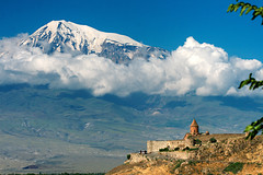Kohr Virab Monastery with Mount Ararat
