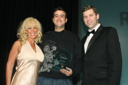 Brian Littleton receives the Affiliate Marketing Legend Pinnacle Award at Affiliate Summit West 2008