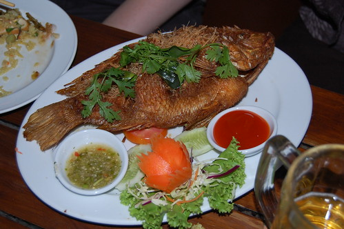 Fried Tub-Tim Fish with Turmeric