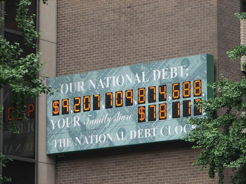 The national debt clock, a trillion dollars ago (so a couple weeks ago)