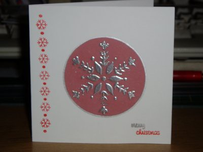 the snowflake in the middle was made with a stamp