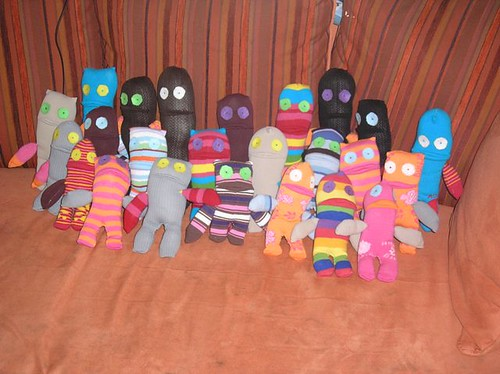 sock monsters galore