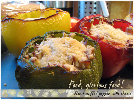 Roast stuffed peppers