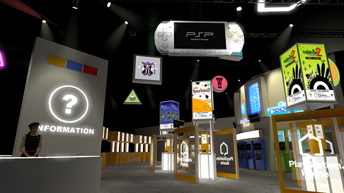 Versi virtual dari booth Sony pada TGS 2008 di PlayStation HOME