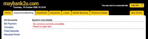 Colin Charles Agenda » Blog Archive » maybank2u slow for the