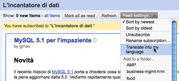 Google Reader Translates