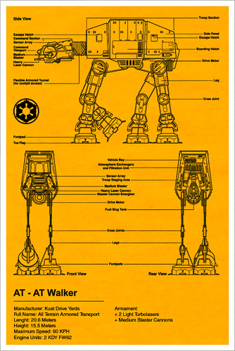 AT-AT Walker Blueprint - Star Wars