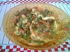 STP's fried longbean omelette