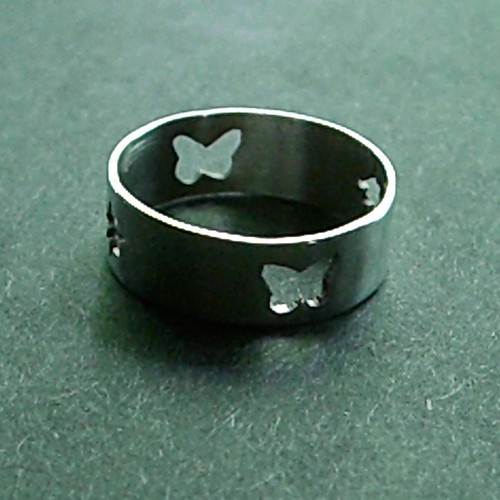 Custom Butterfly and Star Ring in Sterling Silver