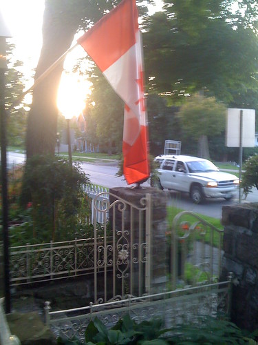Canadian Flag from a Restaurant