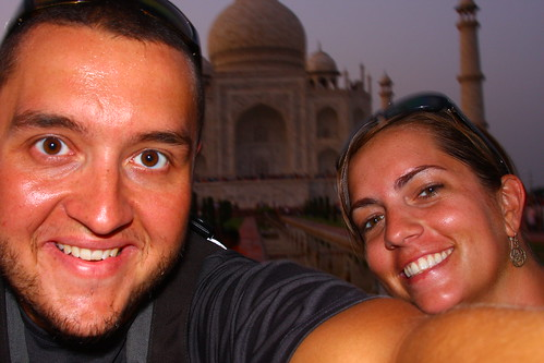 Us at the Taj