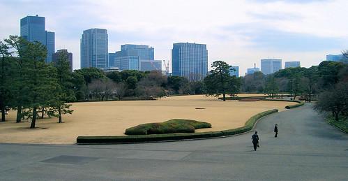 Jardines del palacio imperial.