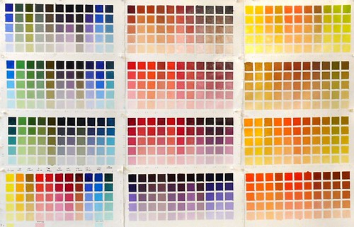 Color Chart of my oil palette