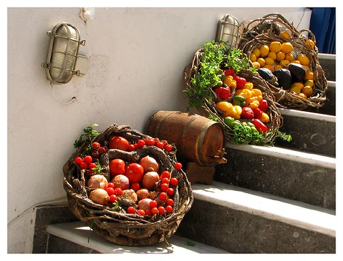 Fresh fruits and vegs of Santorini by you.