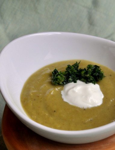 Roasted Asparagus Soup with Spring Herb Gremolata