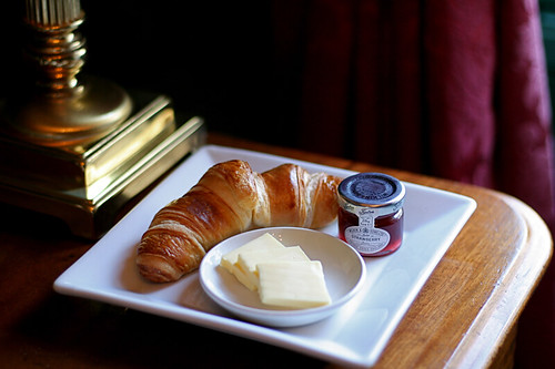 Breakfast Croissants at the Angel, Bury St. Edmunds, Suffolk, UK