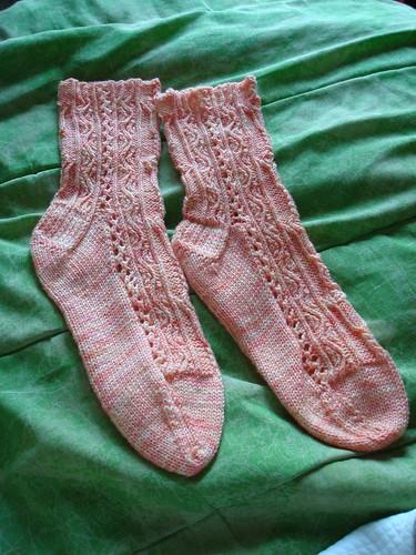 Twisted Tulip Socks