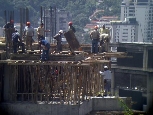 Trabajadores sin arnés