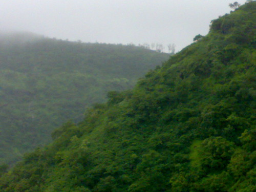 View of the mountain tops