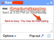 Gmail/Gtalk is thoughtful