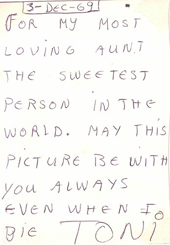 Toni's letter to Mom, 1969