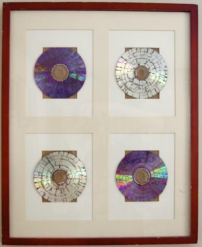 Microwaved CD Art