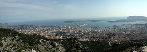 Mont Faron vue sur Toulon