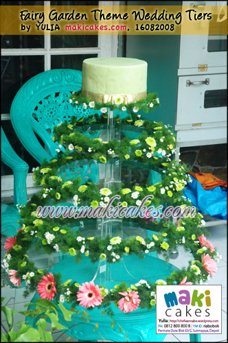 Fairy Garden Theme Wedding Tiers - Maki Cakes