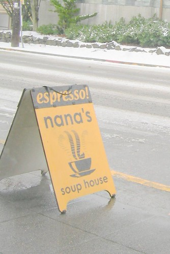 Nana's Sign on Snow Day