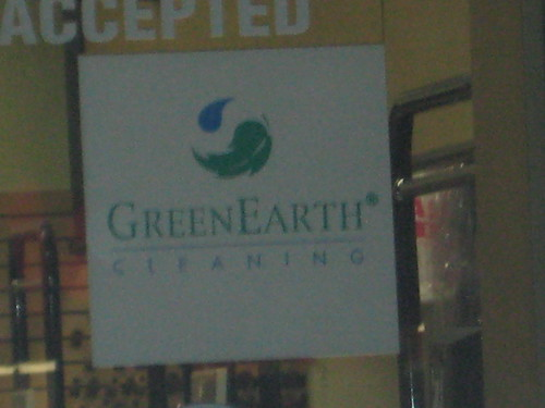 GreenEarth dry cleaning sign