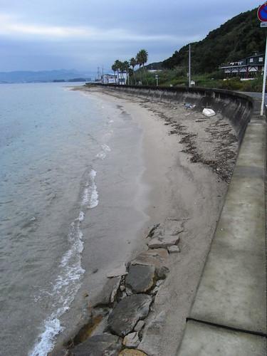 白濱海灘的陰天