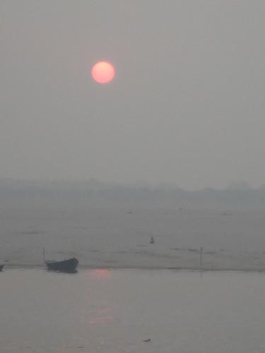 Ganges River1-57日出的恆河天空