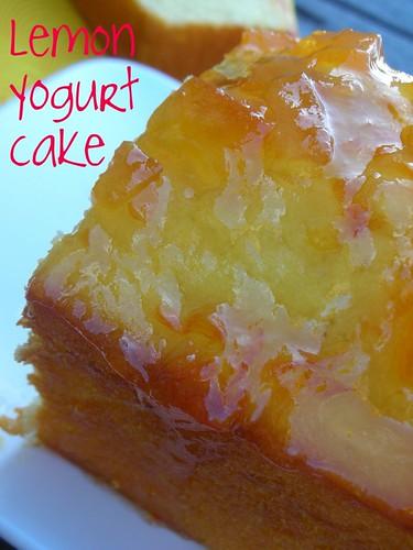 lemon yogurt cake with marmalade glaze