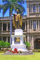 King Kamehameha Day, event, holiday, celebration, statue, Hawaii, Oahu, royalty