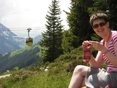 me knitting up a mountain