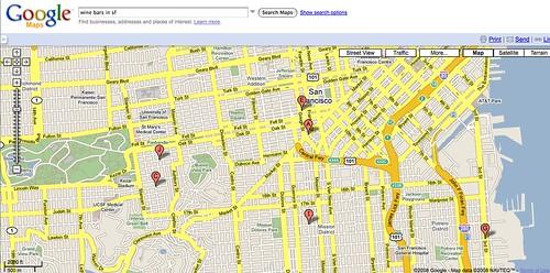 Full screen map view