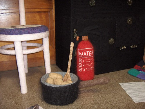 Potatoes & fire extinguisher