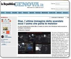 Diaz, l´ultima immagine dello scandalo ecco l´uomo che porta le molotov | Genova la Repubblica.it