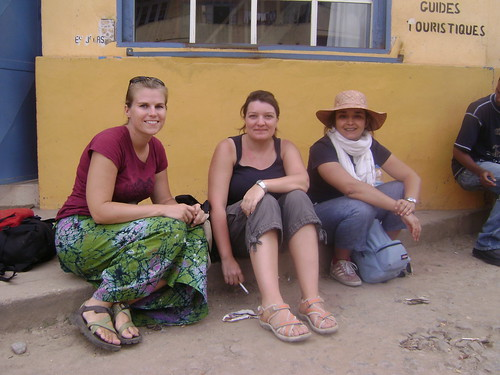 Me, Alex and Anna on the streets of Fiana.