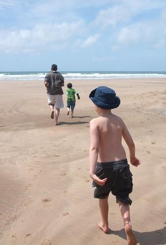 Running to the sea at Barricane beachbeach