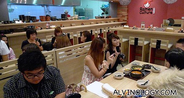 Happy bloggers enjoying their ramen