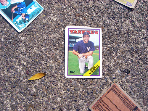 This Morning It Rained Baseball Cards