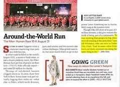 Nike+ Human Race 10K Article in December 2008 Runners World